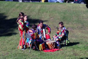 Drumming at the Wild Rice Festival. Photo by Mark Connelly.