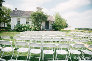 Wedding set-up by the One-Room Schoolhouse in the Barn Courtyard