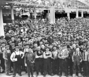 Workers at the Ford plant in Saint Paul.